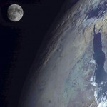 Moon over the Red Sea from Russian weather satellite