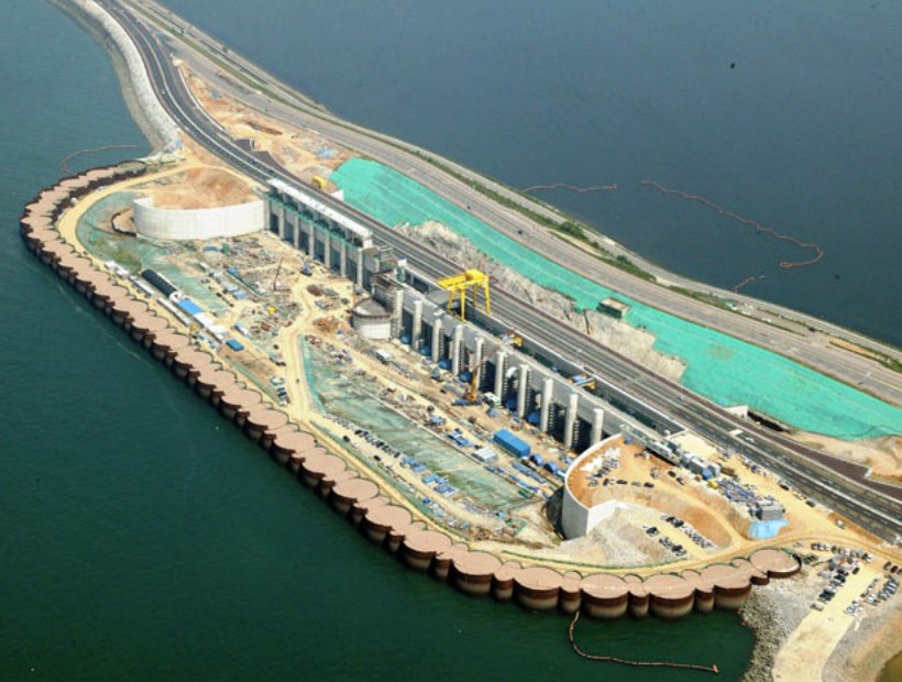 Sihwa Tidal Power Plant in Ansan near completion | wordlessTech