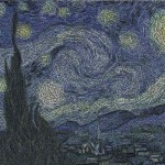 Starry night in words