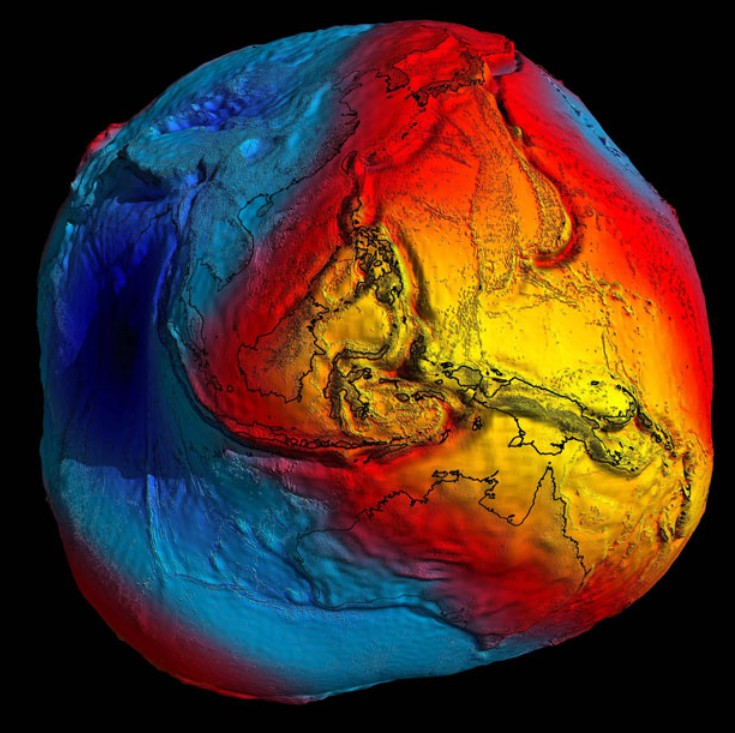 Geoid map