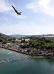 Cliff Diving in the Vouliagmeni lake