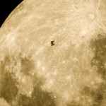 ISS in front of the Moon