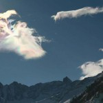 Iridesence in clouds over Gran Paradiso