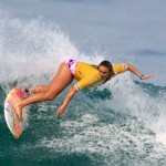Jessi Miley-Dyer surfs in Rio Pro championship
