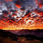 Red cloudscape sunrise