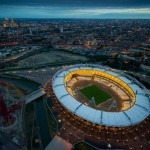 London Olympic Stadium with ligthts