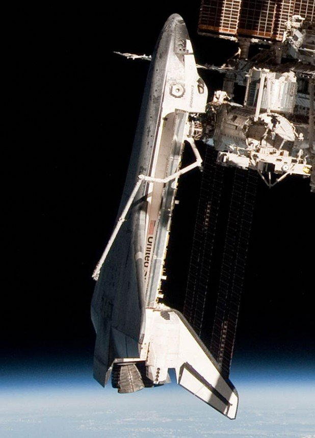 ISS and docked Shuttle