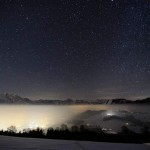 Twinkling stars over the Alps