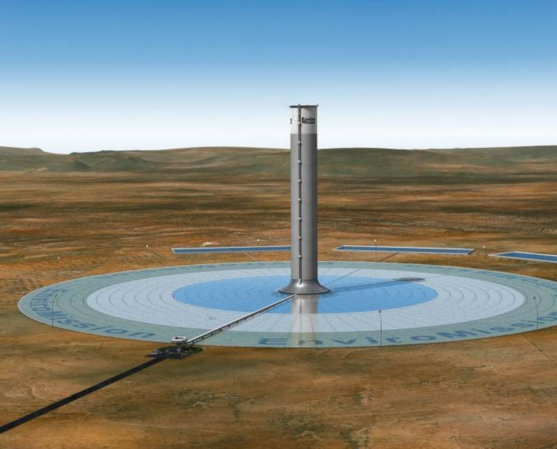 800m tall solar tower for Arizona | wordlessTech