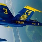 Blue Angels performing a Delta Loop
