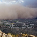 Dust wall over Phoenix