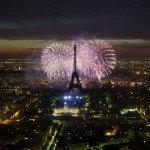 Fireworks on Bastille Day