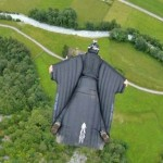 First man to fly through waterfall in wingsuit (video)