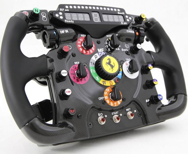 wordlesstech replica ferrari f1 steering wheel. Black Bedroom Furniture Sets. Home Design Ideas