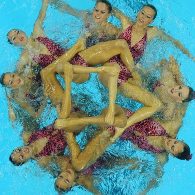 Spain's synchronised swimming