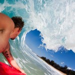 Surfing inside huge Waves