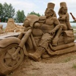 The Egyptian Bikers sculpture