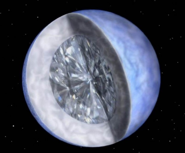 Planet with Diamonds