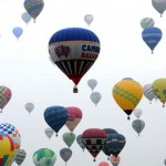 Hot air balloons at Lorraine Mondial festival