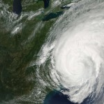 Hurrican Irene over the eastern United States