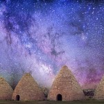 Milky Way over Historic kilns