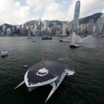 Planetsolar catamaran in Hong Kong
