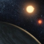 A Planet Orbiting two Stars (video)