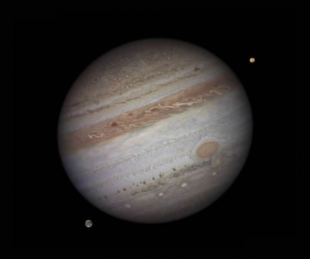 Jupiter with lo and Ganymede