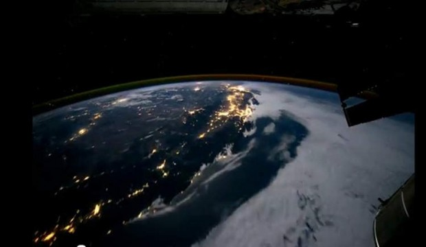 time-lapse from ISS