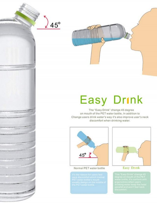45- Degree Neck Bottle