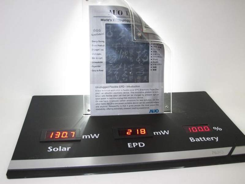 Un-plugged Flexible E-paper display – wordlessTech