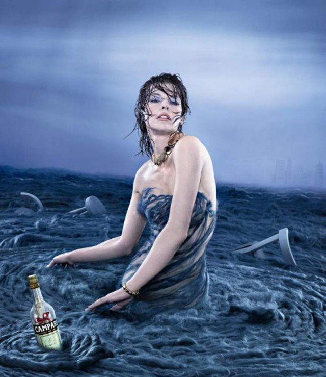 Campari Calendar with actress Milla Jovovich 2012 (4)