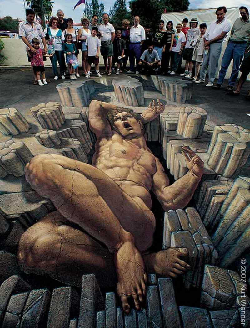 wordlesstech 3d street art by kurt wenner. Black Bedroom Furniture Sets. Home Design Ideas