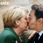 Advertising campaign with world leaders in love