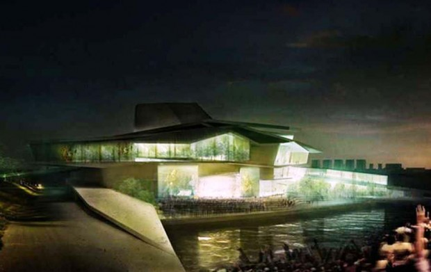 Busan Camellian Opera House by Matteo Cainer Architects