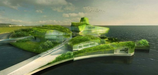 Busan Camellian Opera House by Matteo Cainer Architects (2)