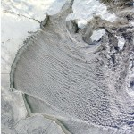 Cloud streets in Hudson Bay