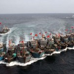 Illegal Chinese fishing boats