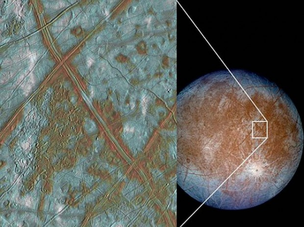 surface of moon Europa