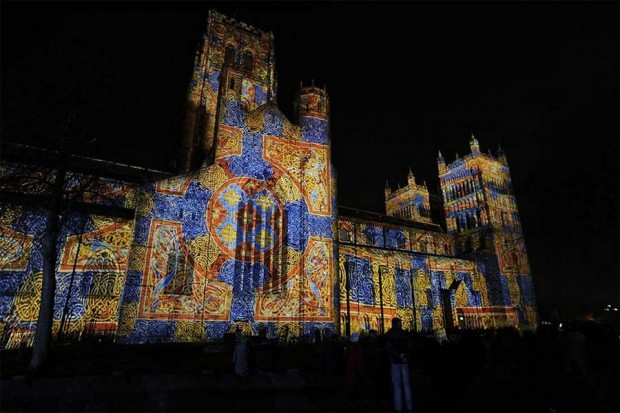 sound and light show in the city of Durham
