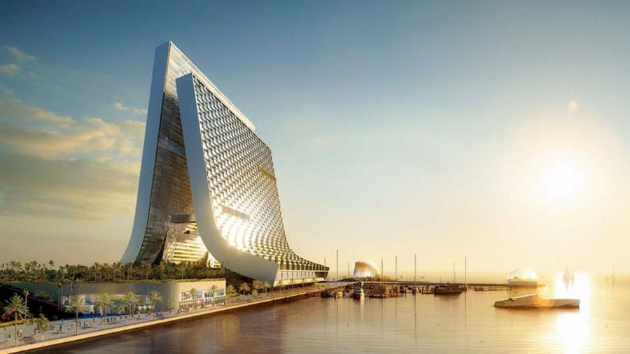 Wordlesstech marina beach towers by oppenheim for Architecture firms in dubai