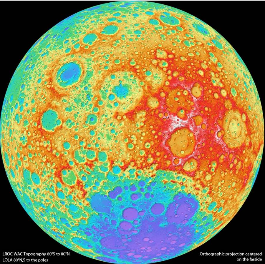 LRO Map of the Moon