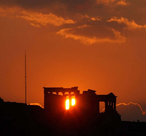sunset at Erechthion