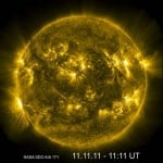 The Sun on 11/11/11 at 11:11 UTC