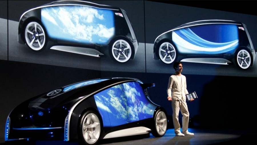 toyota unveils fun vii car with touch screen doors wordlesstech. Black Bedroom Furniture Sets. Home Design Ideas