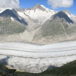 Aletsch Glacier in Alps mountains