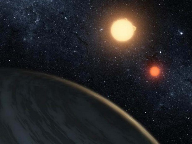 Kepler-16b, A Planet Orbiting two Stars