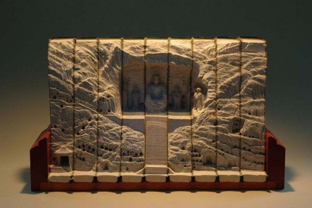 Carved Book Landscapes (2)