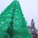 Christmas Tree made from 32,000 plastic bottles