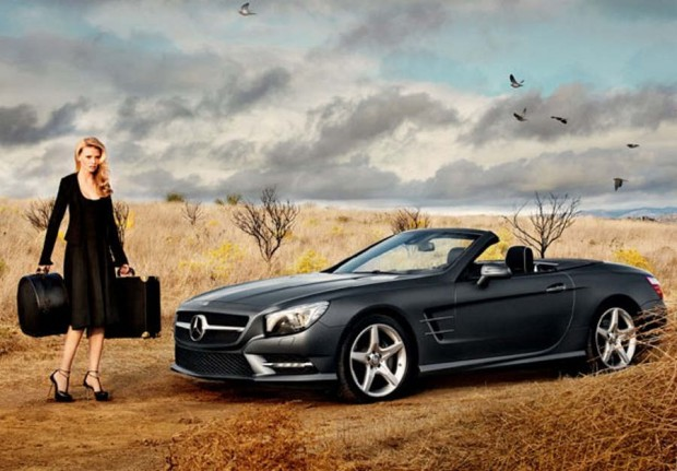 SL Roadster with Lara Stone in Calvin Klein Collection
